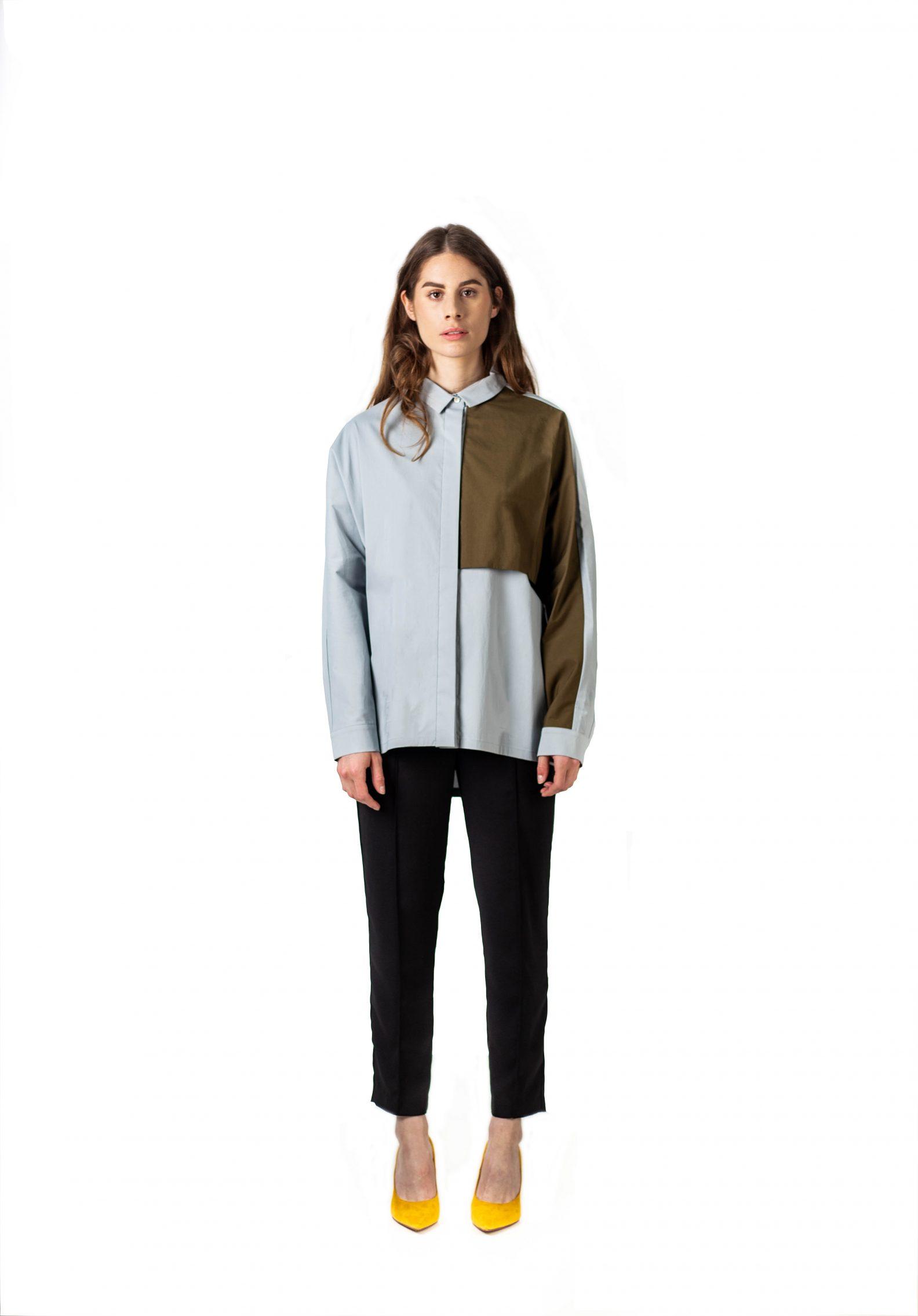 Chemise asymétrique oversize - Oversized asymmetric shirt-1-chemise-unisexe-affaires-etrangeres-paris-kpop-besides-kimchi
