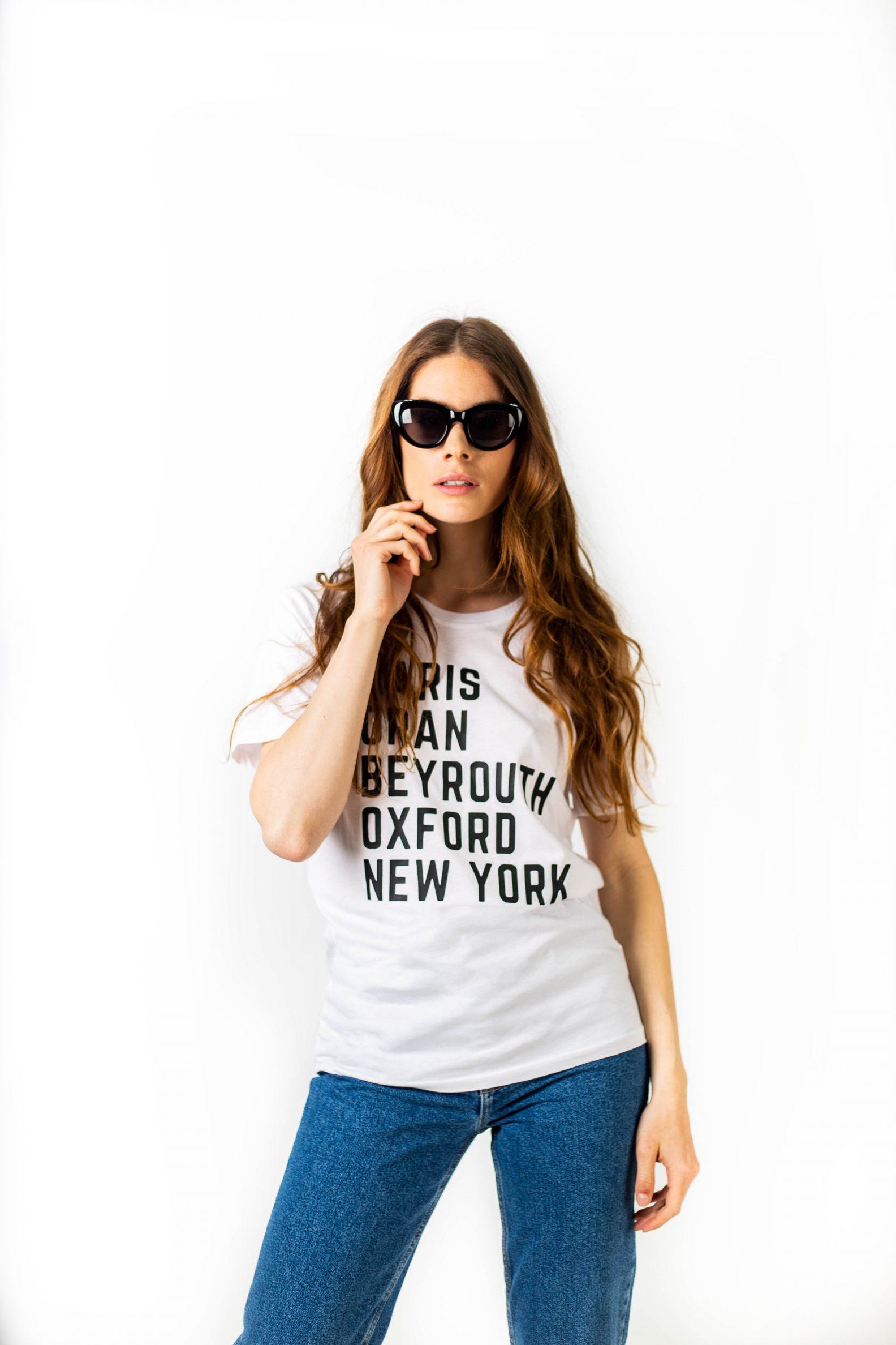 T-shirt Paris Oran ... New York-Paris Oran... t-shirt-1-tshirt-coton-bio-paris-oran-affaires-etrangeres-mode-ethnique-chic-ethique