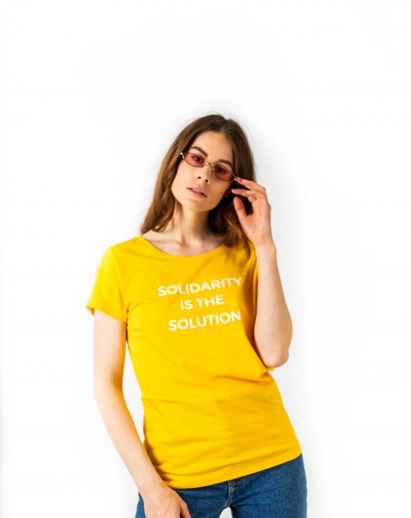 T-shirt Solidarity is the solution -1-tshirt-coton-bio-Solidarity t-shirt-affaires-etrangeres-paris-mode-ethnique-chic-ethique