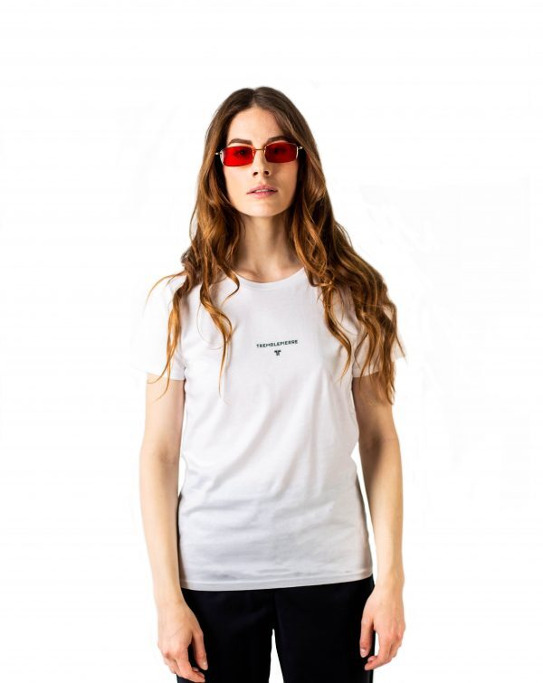 T-shirt blanc TREMBLEPIERRE -White TREMBLEPIERRE t-shirt-tshirt-affaires-etrangeres-tremblepierre-upcycling