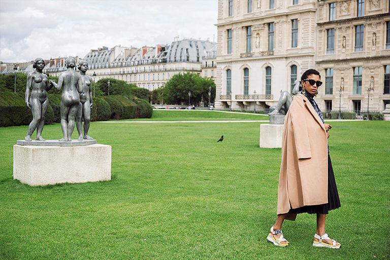manteau-long-coat-laine-wool-jupe-midi-plissee-skirt-courri-affaires-etrangeres-saqndales-zara