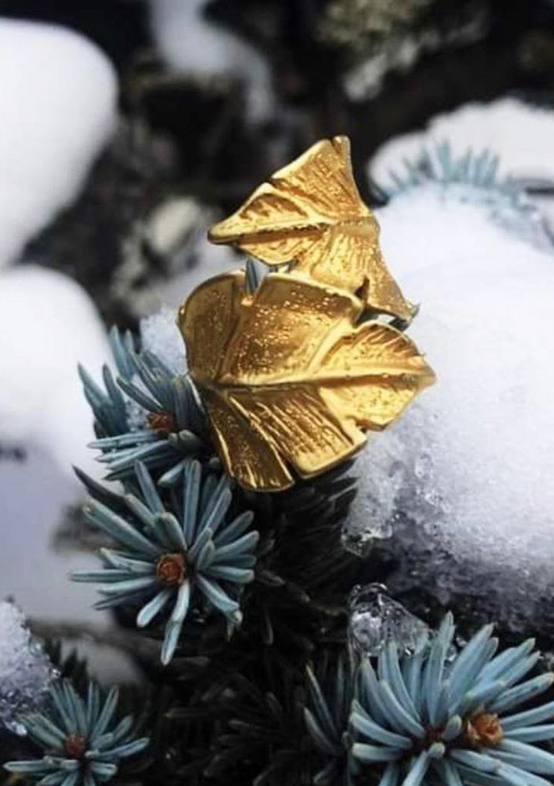 bague Eternelle I argent massif doré or 18 caratsI Elliade I vue en détail I Label AÉ Paris