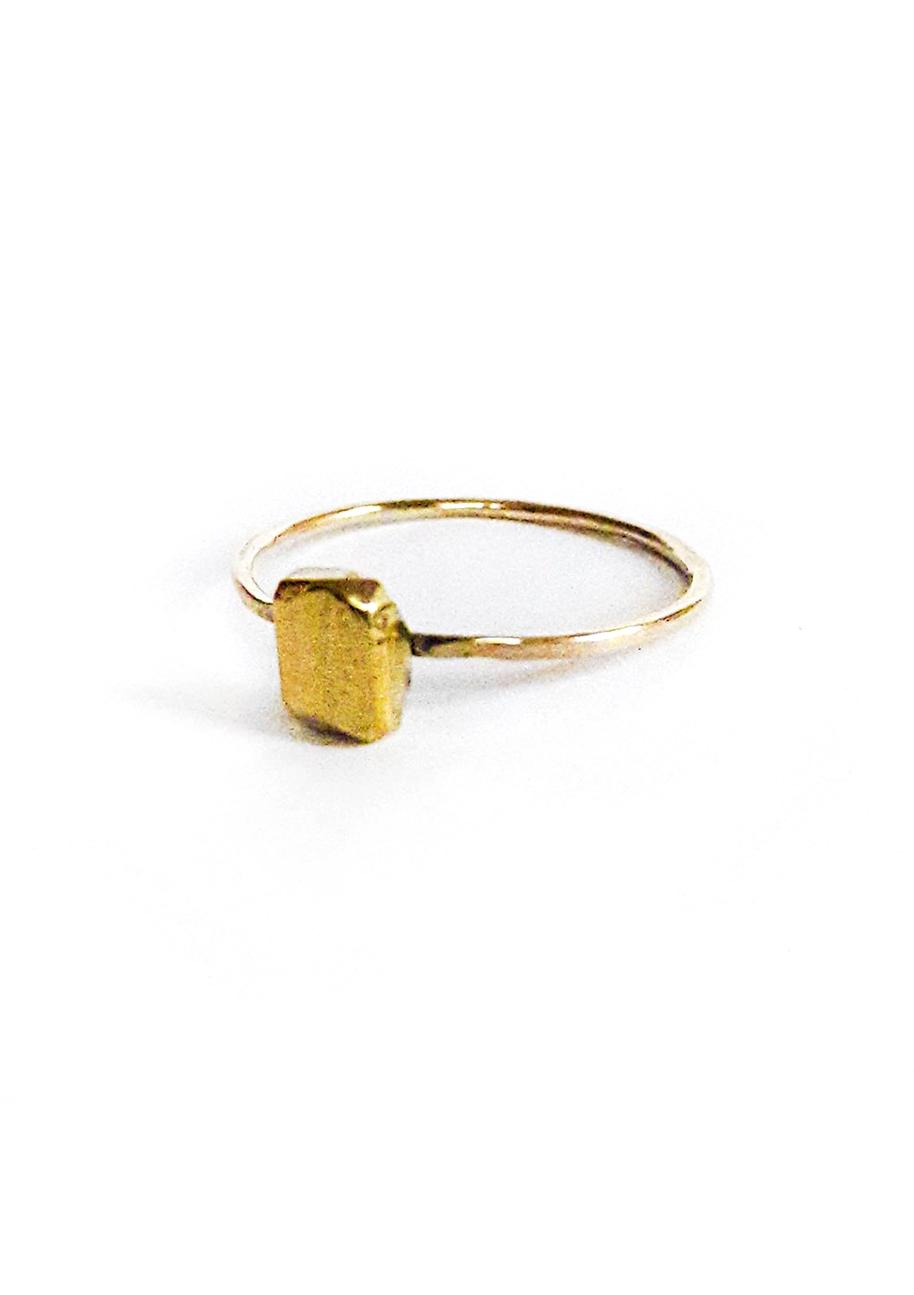 Bague Schiste – Doré à l'or fin 24 carats | Bresma | Label AÉ Paris - Image 3