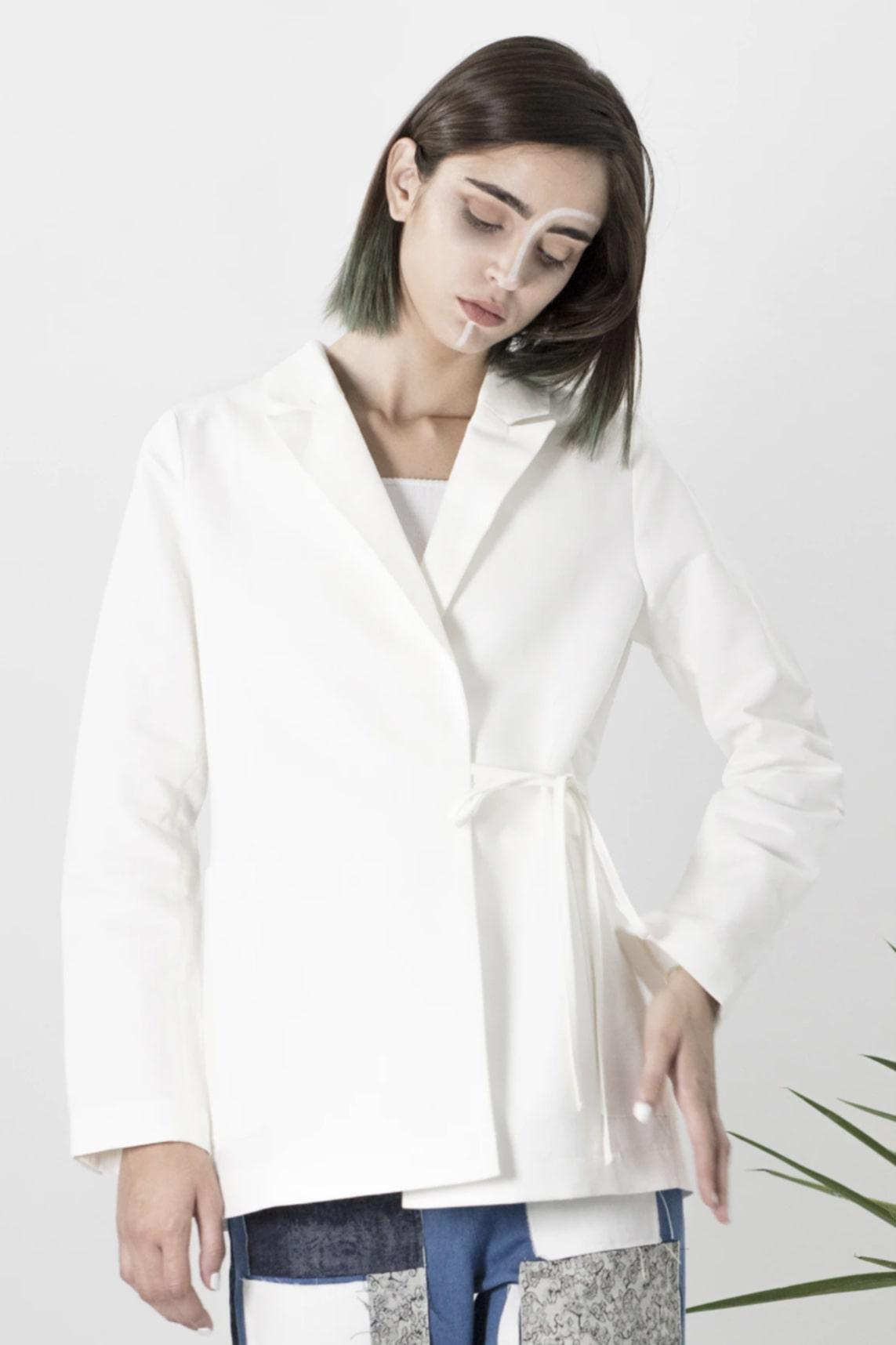blazer kimono blanc