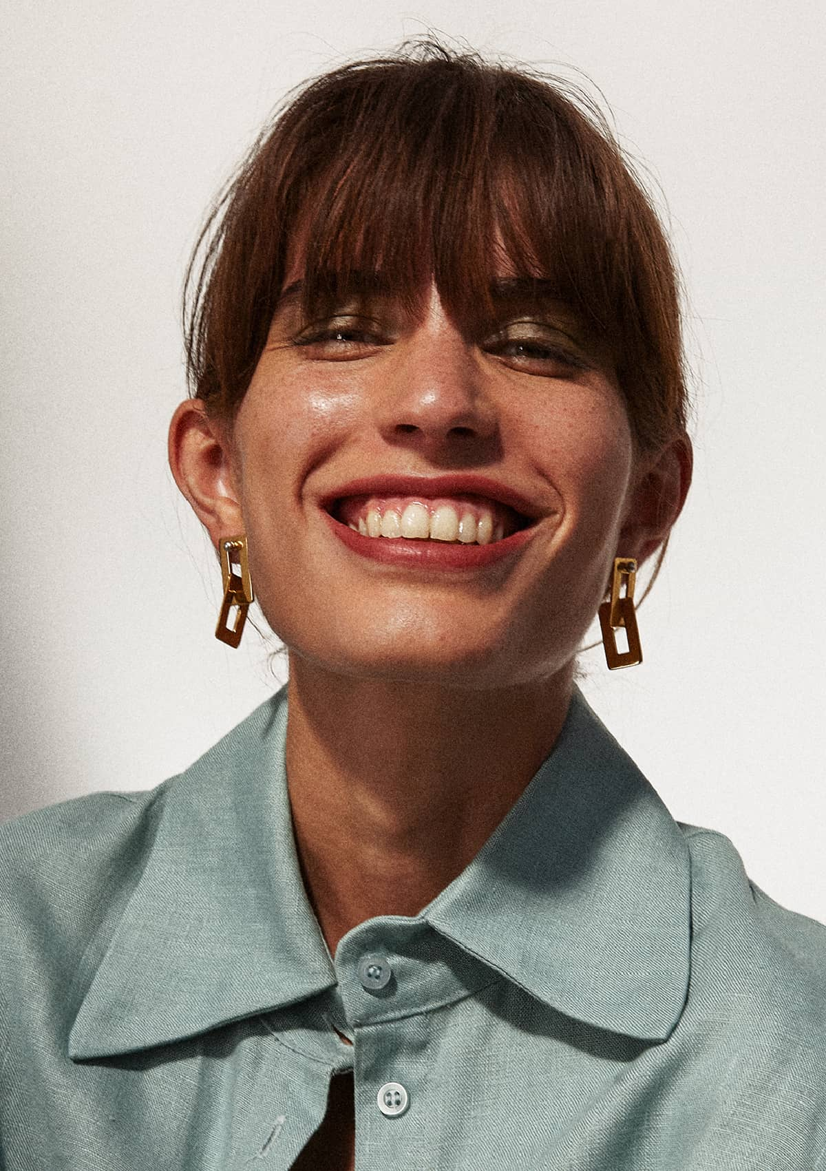 Boucles d'oreilles en bronze plaqué or Dàvila