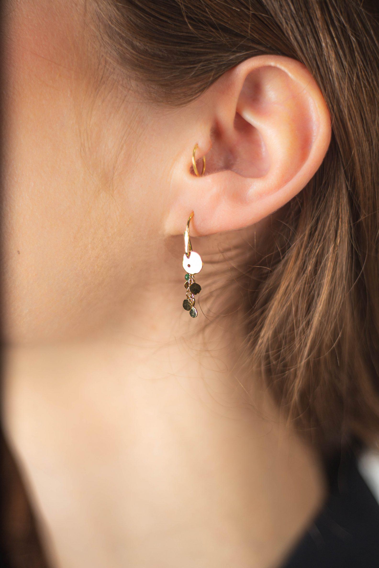 Short Indian summer earrings-Boucle d'oreille éteinte Indien courte