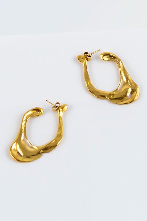 Boucles d'oreilles Aura en argent ou bronze doré à l'or