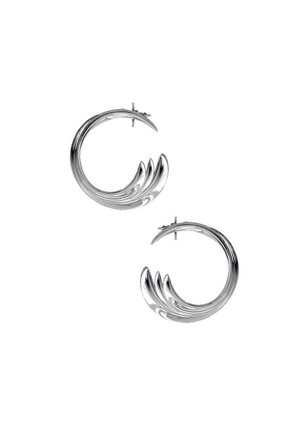 Boucles d'oreilles – En argent – Imminent Fantasma | Label AÉ Paris