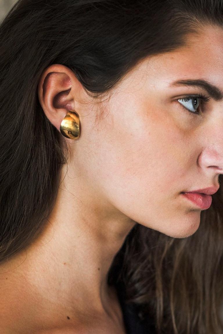 Boucles d'oreilles en laiton Bara