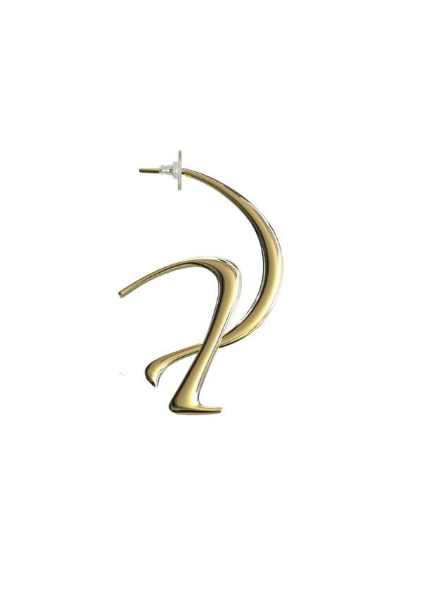 Boucle d'oreille parallel – En vermeil – Imminent Fantasma   Label AÉ Paris