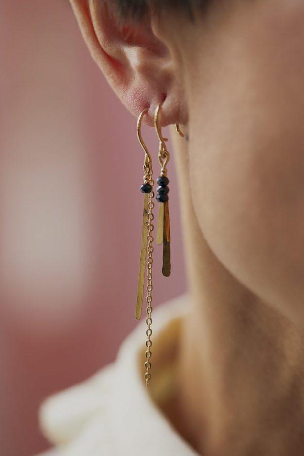 Boucle d'oreilles en laiton celeste