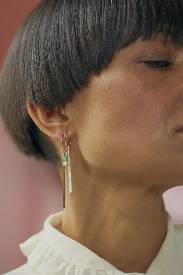 Boucles d'oreilles en laiton Comète