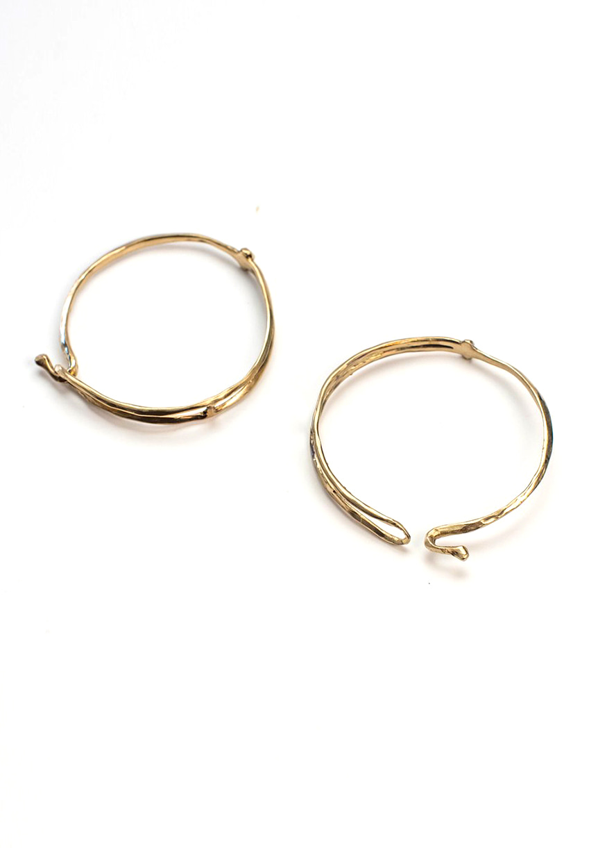 bracelet bangle organic handmade brass laiton fait main bresma Affaires Étrangères - 2