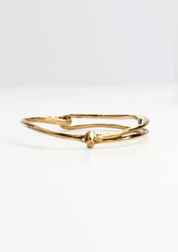 bracelet bangle organic handmade brass laiton fait main bresma Affaires Étrangères - 1