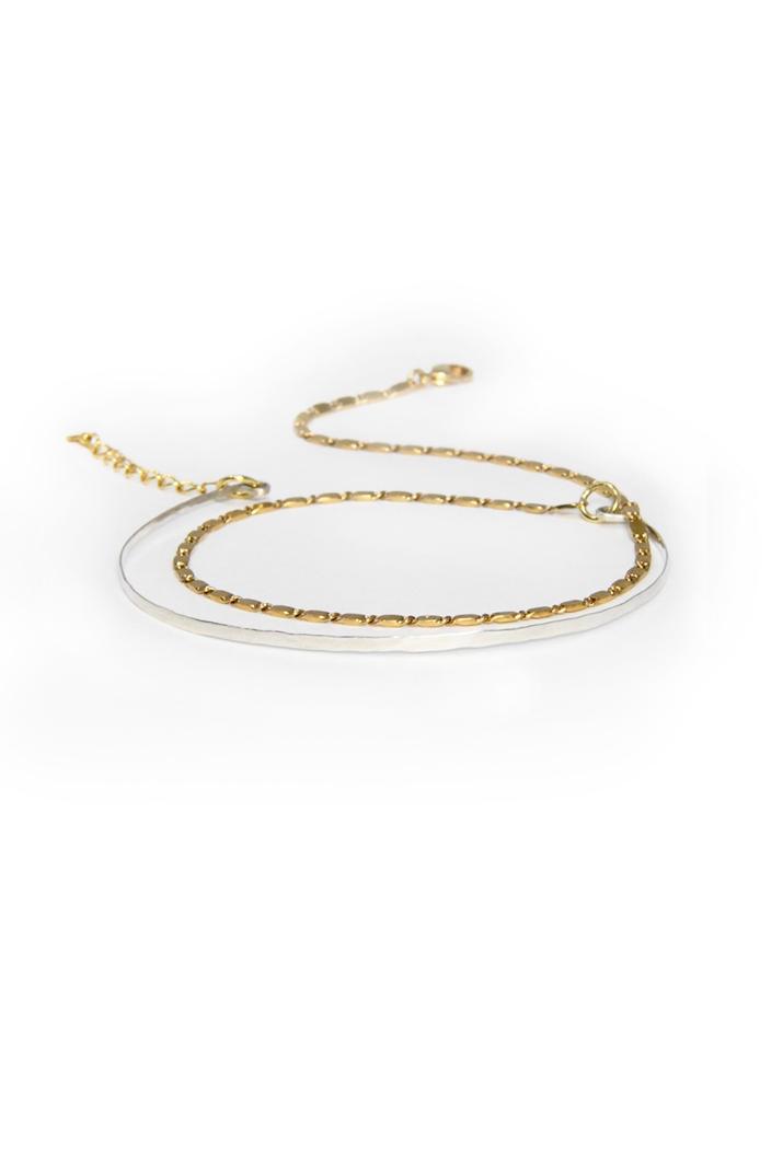 Bracelet double jonc argent - Tandem I Laëtitia Piffeteau I Label AÉ Paris
