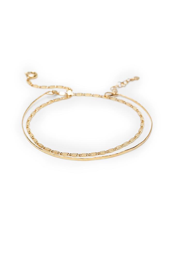 Bracelet double jonc en or I Laëtitia Piffeteau I Label AÉ Paris