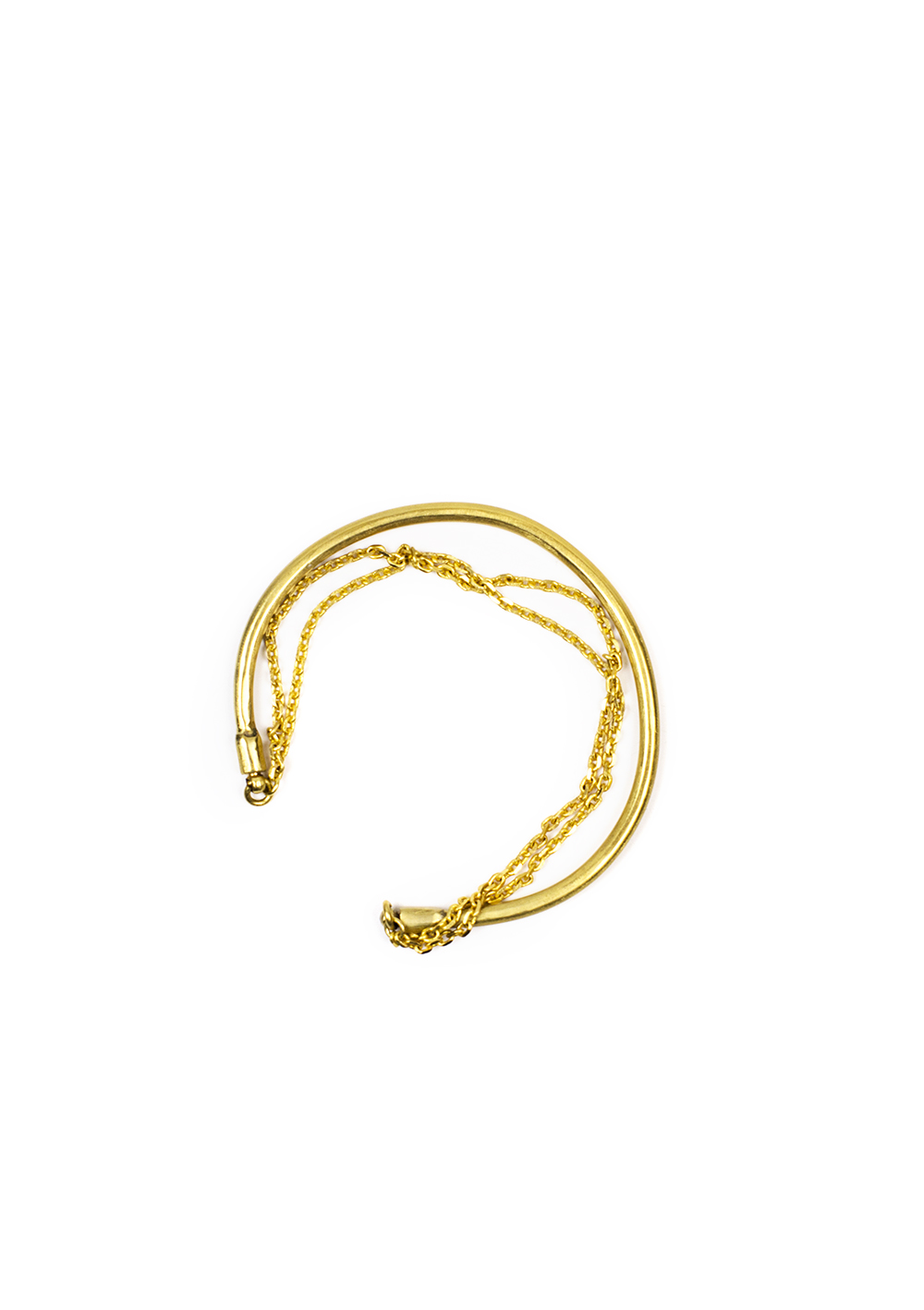 Bracelet Jonc double – Doré à l'or fin | Bresma | Label AÉ Paris