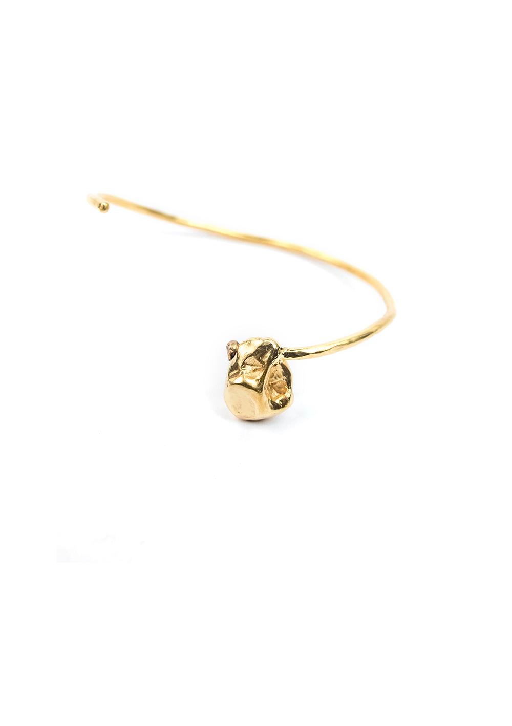 Bracelet Jonc Irrégulier – Doré à l'or fin 24 carats   Bresma   Label AÉ Paris - Image 2