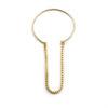 Bracelet Jonc ouvert à chaine – Doré à l'or fin 24 carats | Bresma | Label AÉ Paris - Image 2