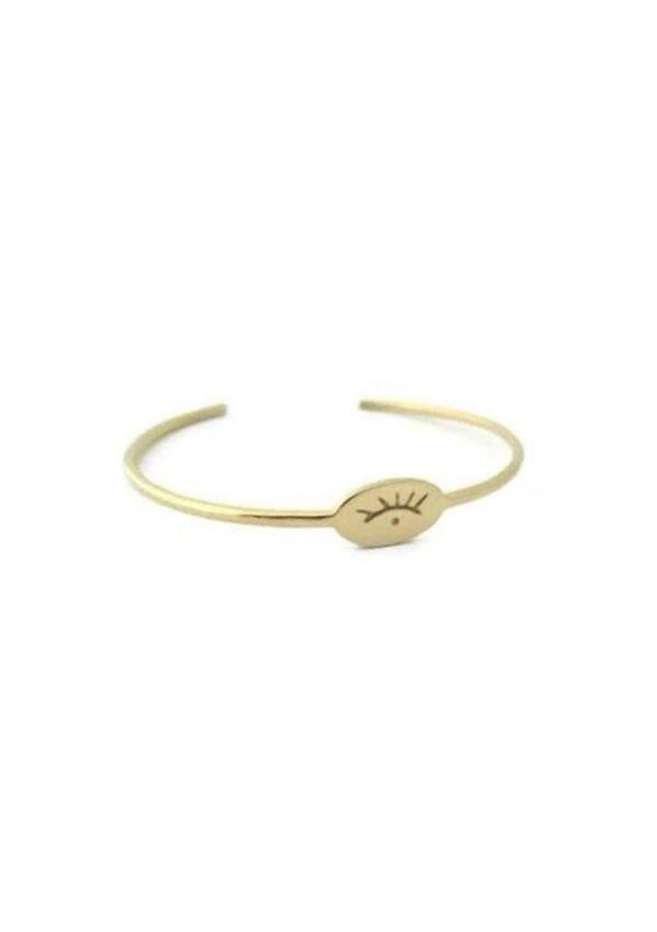 Bracelet ouvert I Plaqué or I Nina.Janvier I Label AÉ Paris