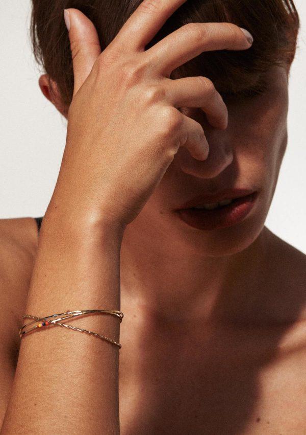 Bracelet triple fin a perles