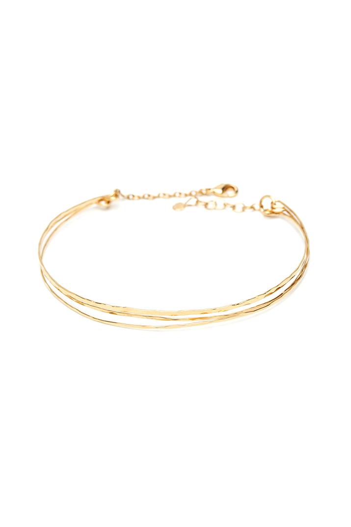 Bracelet triple jonc or trio I Laëtitia Piffeteau I Label AÉ Paris