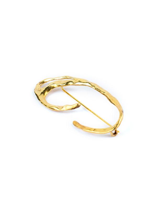 Broche Galatée – Doré à l'or fin 24 carats | Bresma | Label AÉ Paris - Image 1