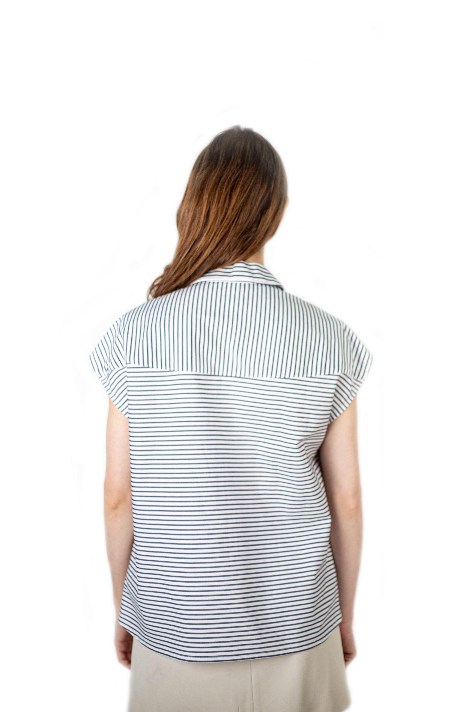 chemise unisexe sans manches et rayures affaires etrangeres antagony upcycling