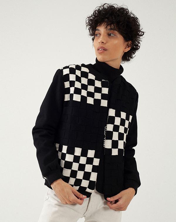 Créateur de mode Leila Bousseta - Blouson en laine