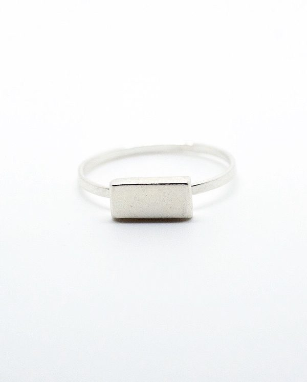 Bague Bauhaus Horizontal -Bauhaus horizontal ring-davila-affaires-etrangeres-bague-argent-bijou-brut