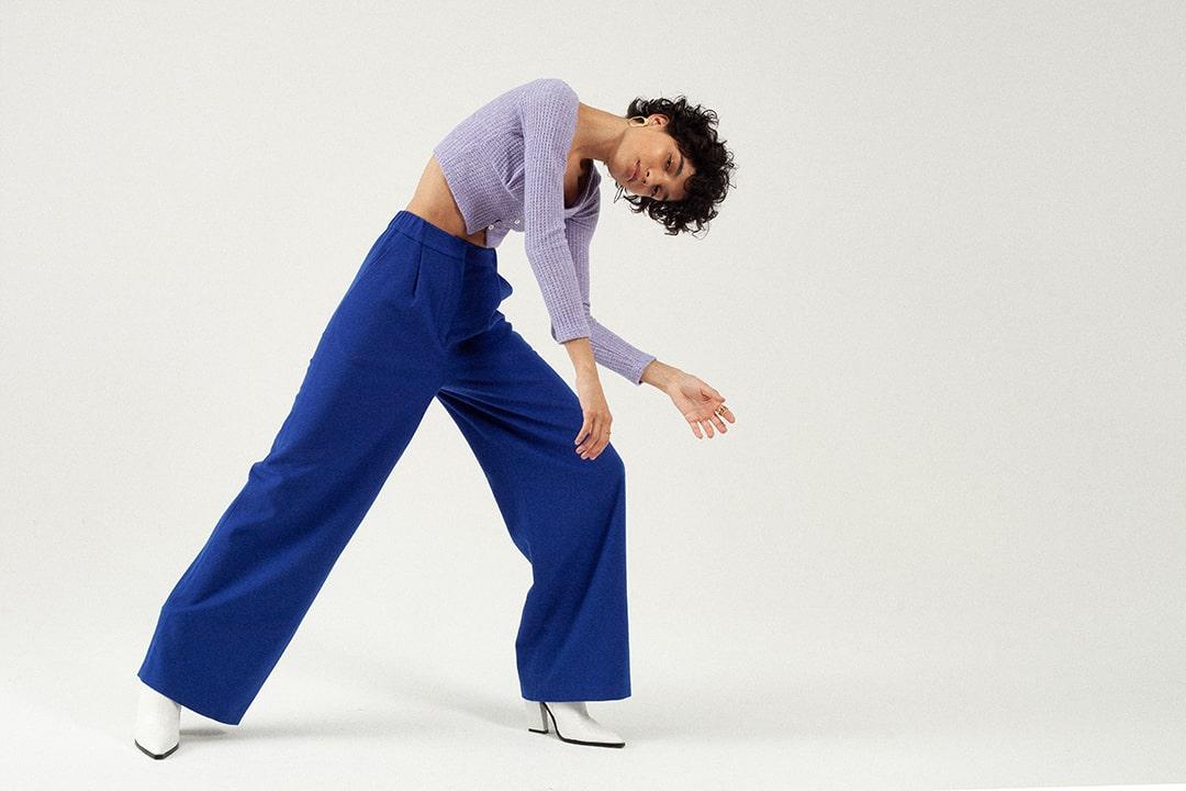 Pantalon indigo Tremblepierre