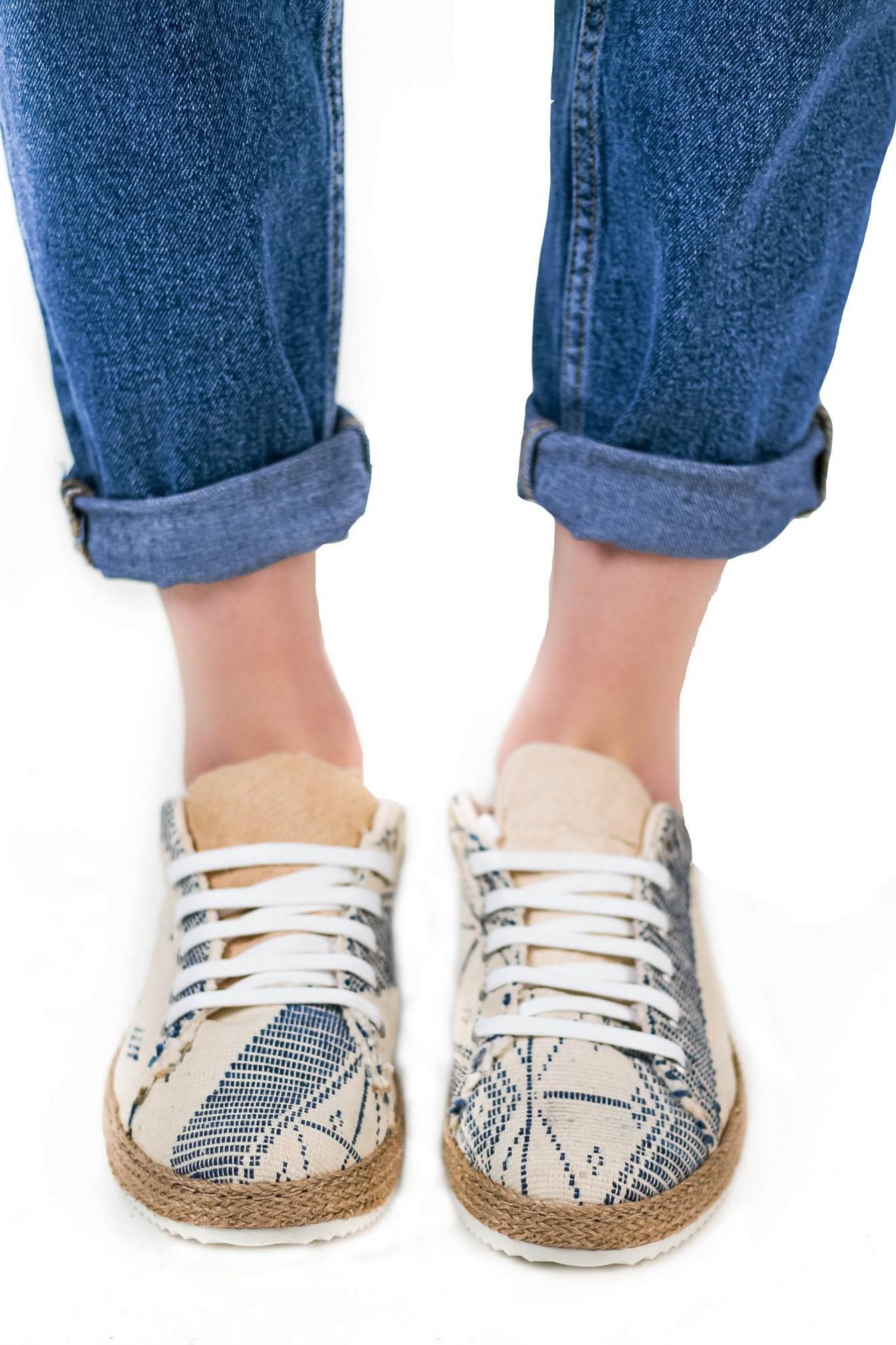 Baskets confortables manjak – Unisexe – Vue de face | Label AÉ