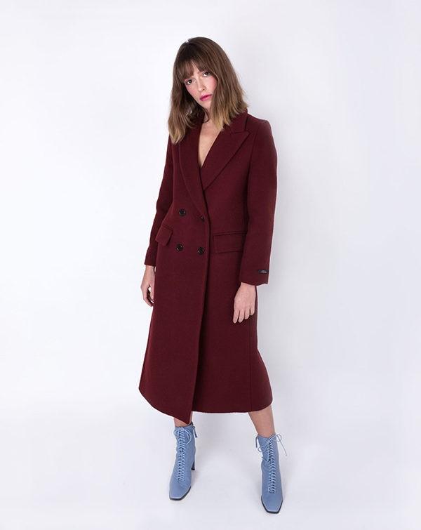 manteau-bordeaux-long-laine-coat-wool-burgundy-lookast-affaires-etrangeres-zara-boots-bottines