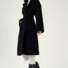 Manteau long noir oversize laine et cachemire par le créateur Tremblepierre. Les Essentiels chez AFFAIRES ÉTRANGÈRES - 3