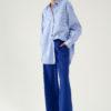 Pantalon en laine et cachemire indigo du créateur Tremblepierre - image 1