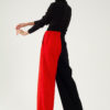 Pantalon large en laine et cachemire – Bicolore Noir/rouge – Tremblepierre | Label AÉ - Image 4