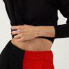 Pantalon large en laine et cachemire – Bicolore Noir/rouge – Tremblepierre | Label AÉ - Image 3