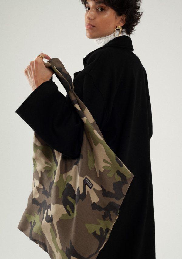 Sac ergonomique en coton – Vue en détail – Armance & Apolline | Label AÉ
