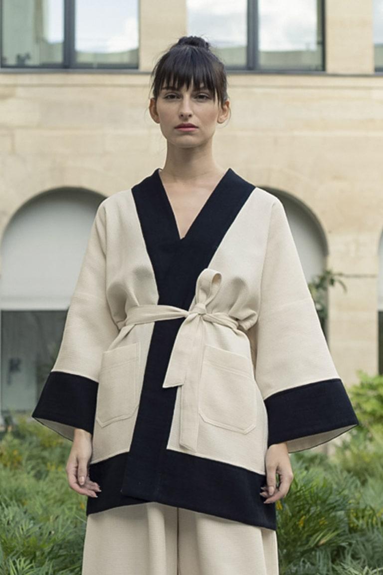 Veste kimono tremblepierre